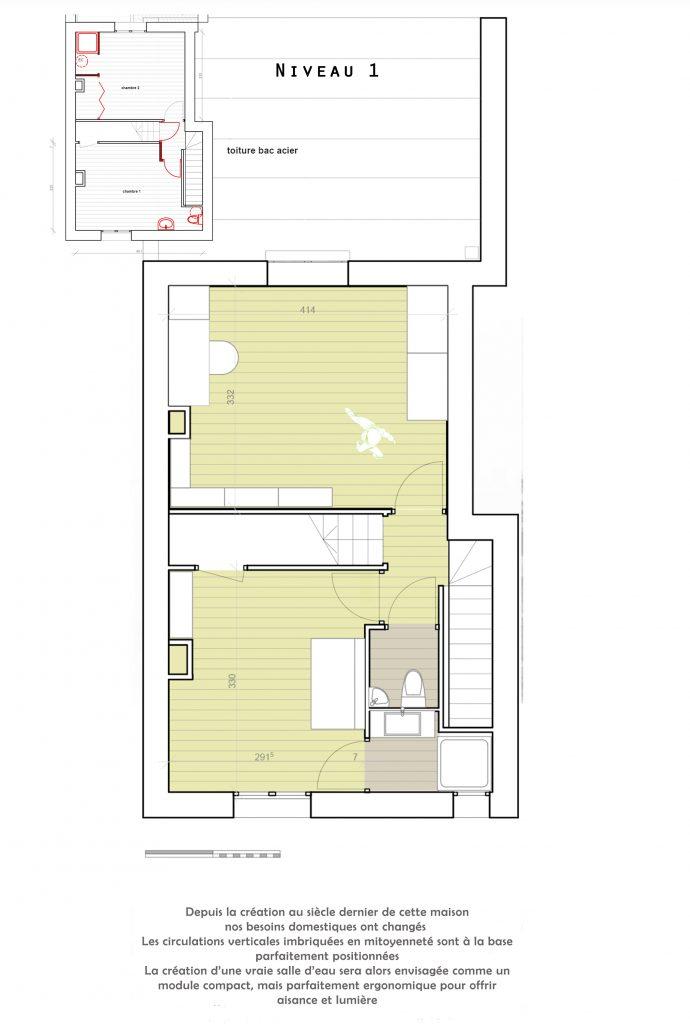 rénovation maison, création d'une salle d'eau