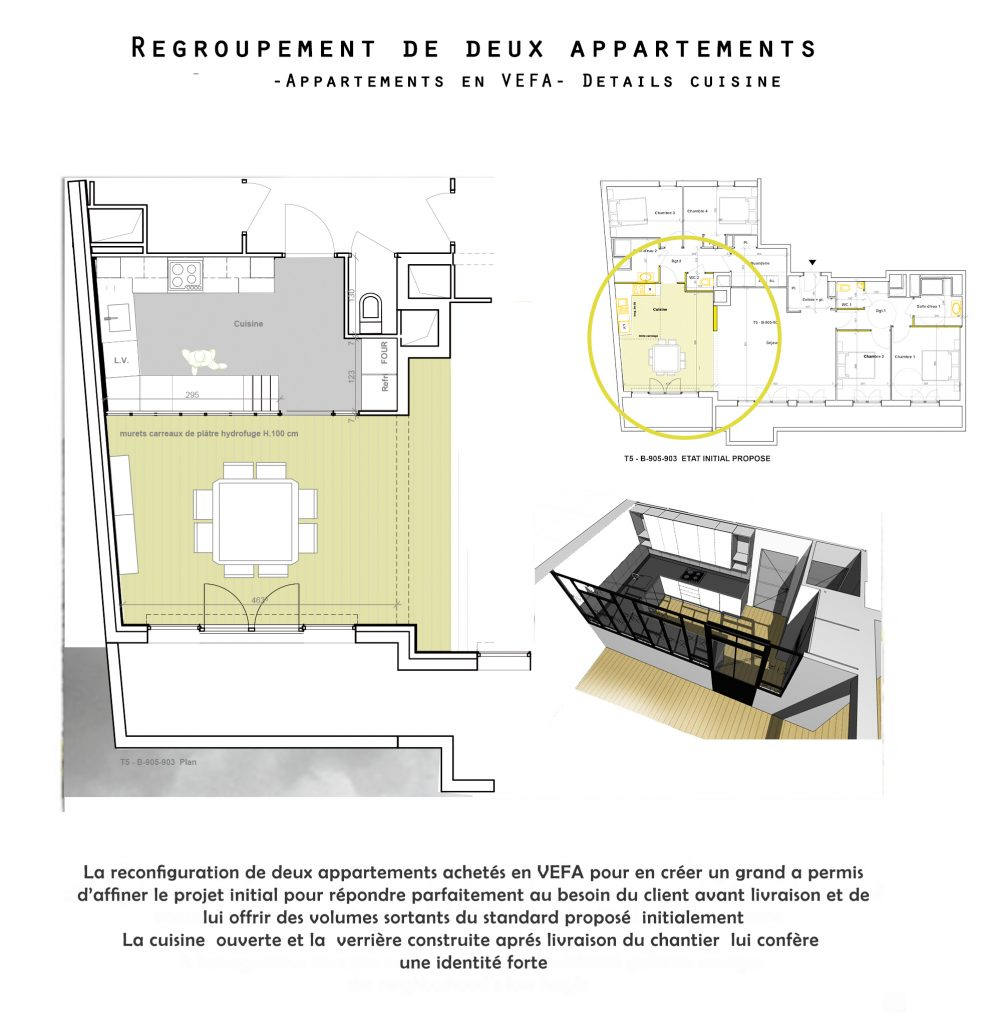 regroupement de deux appartement en un grand