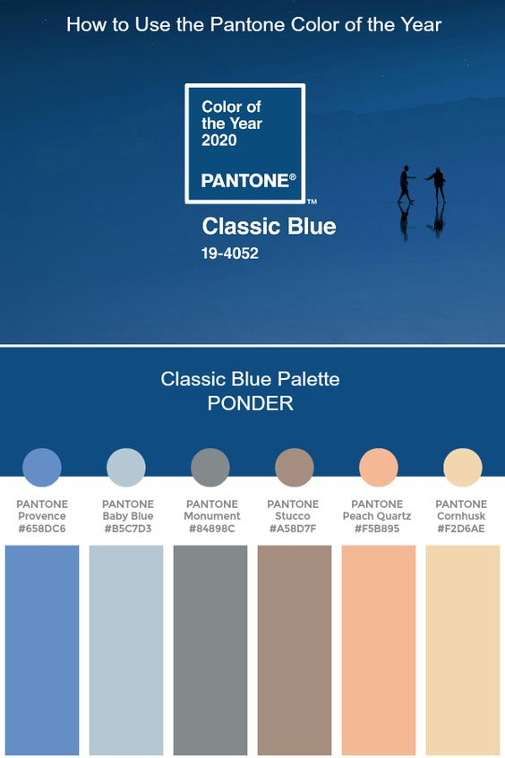 La couleur de l'année 2020, le bleu «classic blue» et le terra-cota, comment l'utiliser ?
