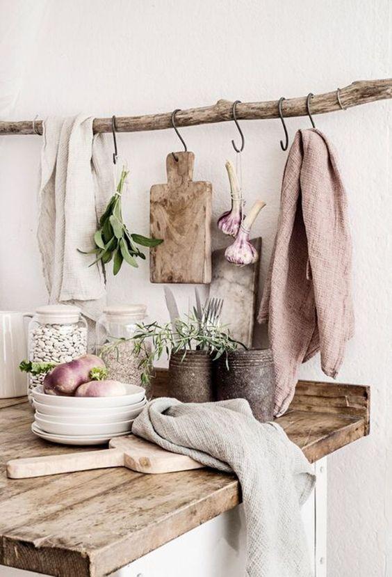 plan de travail cuisine en bois.
