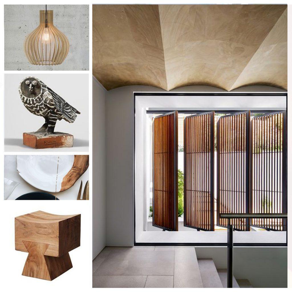 moodboard blanc et bois, sylvie Guénézan, architecte d'intérieur à Lille