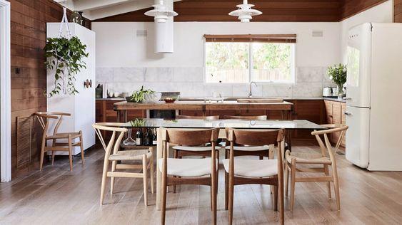 cuisine bois et blanc
