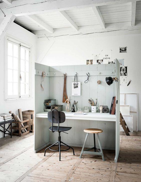 bureau cloisonné pour une chambre