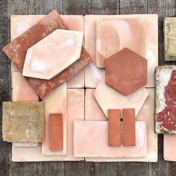 planche matériaux terracota, tendances déco2020