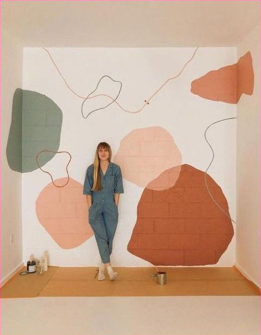 fresque murale, peinture murale, décorer son mur avec une peinture, peindre un un mur avec motifs, faire un décor sur un mur, faire une peinture décorative,