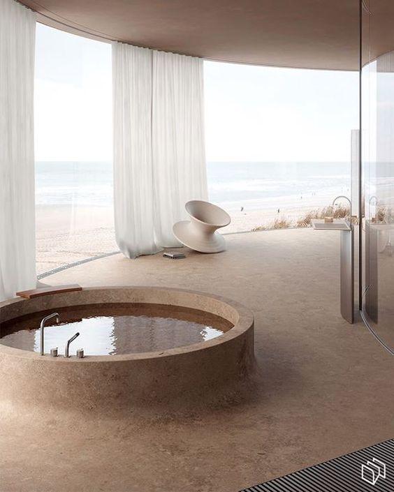 baignoire ronde, baignoire d'hotel, salle de bain incroyable, salle de bain magnifique, les plus belles salle-de-bains, salle-de_bain de rêves, dreamy bathroom