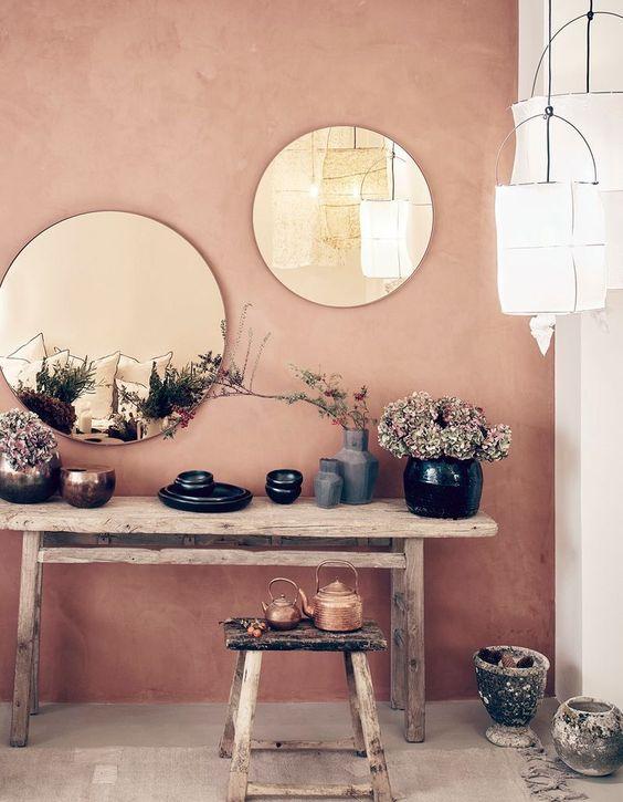 pienture couleur terracota, peinture aptine ocre rose, badigeon terracota