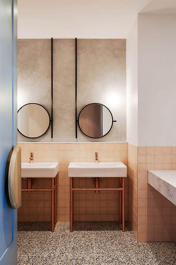 double vasque, double vasque salle-de-bain, double vasque salle de bain, double vasque sur pied