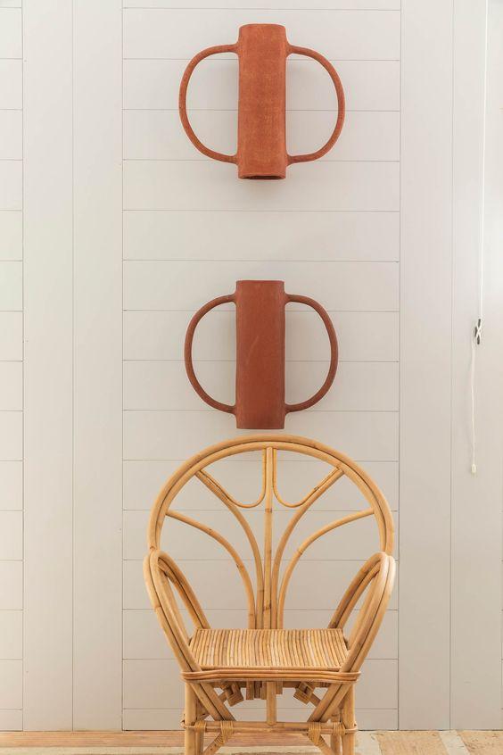 abat-jour déco, applique en céramique, applique terracota, applique ait-main, nouvel artisannat applique