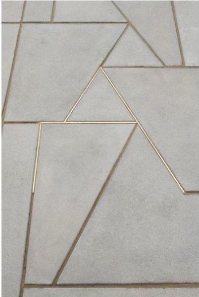 carrelage joint laiton, marbre et joint laiton, carrelage joint métal