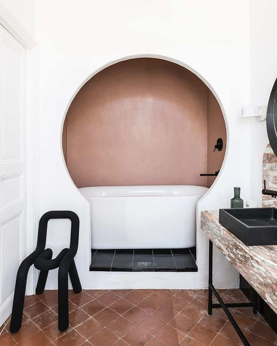 salle de bain en alcôce, architecte d'intérieur lille, architecte d'interieur, projet à distance par internet
