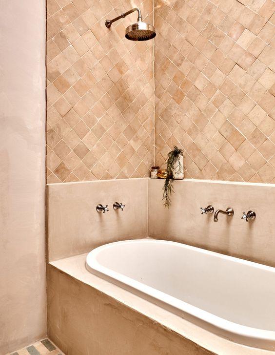 salle de bain terracotta, décoratrice Lille, architecte d'intérieur Lille