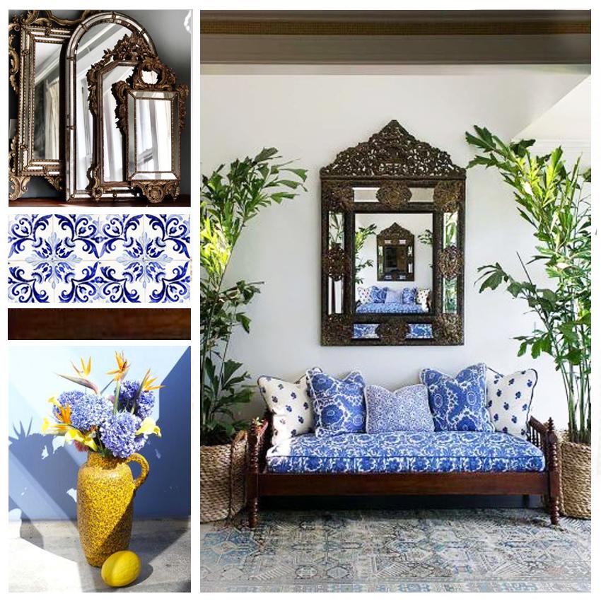 décoration d'un pation, pation style marocain, décoration de riad