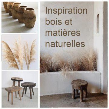 idée déco pour utilser le bois et les matières naturelles