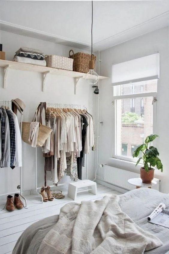 dressing pas cher, idée dressing pas cher, dressing dans chambre, dressing IKEA pas cher
