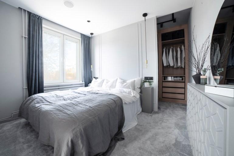 aménager un dressing avec une cloison derrière sa tête de lit, architecte d'intérieur Lille